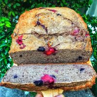 Banana and Berry Gluten Free Vegan Bread