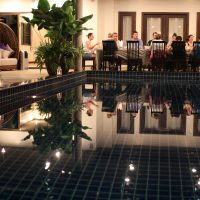 Phuket Cleanse Main Pool Dinner