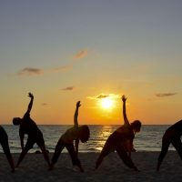 Sunrise Yoga from Nai Harn Beach